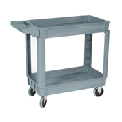 Wesco® Deluxe Plastic Tray Shelf Service Cart 270434 36x24 550 Lb. Cap.