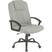Executive Office Chair - Fabric - High Back - Gray