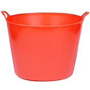 Little Giant Flex Tub FT11RED, Flexible Poly/Rubber, 11 Gal., Red