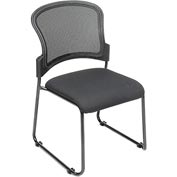 Mesh Stacking Chair - Fabric - Black - Pkg Qty 4