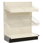 "Lozier - Gondola Shelving, 36""W x 25""D x 84""H Single Side - Wall Starter"