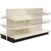 "Lozier - Gondola Shelving, 48""W x 47""D x 54""H Double Side - Aisle Add-On"
