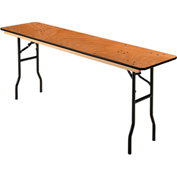 "Interion™ Plywood Folding Banquet Table 72"" L x 18"" W"