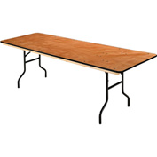 "Interion™ Plywood Folding Banquet Table 96"" L x 30"" W"