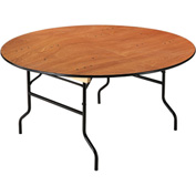 "Plywood Folding Banquet Table 60"" Dia. Round"