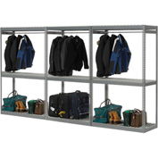 "Boltless Luggage Garment Triple Rack - 144""W x 24""D x 84""H"