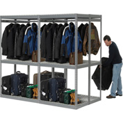 "Boltless Luggage Garment Double Rack - 96""W x 48""D x 84""H"
