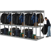 "Boltless Luggage Garment Triple Combo Rack - 144""W x 48""D x 84""H"