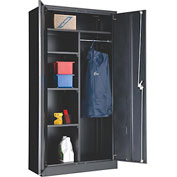 Global™ Combination Cabinet Easy Assembly 36x18x72 Black