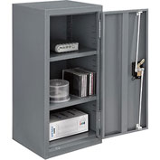 Global™ Wall Storage Cabinet Assembled 13-3/4x12-3/4x30 Gray