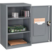 Global™ Wall Storage Cabinet Assembled 19-7/8x14-1/4x32-3/4 Gray