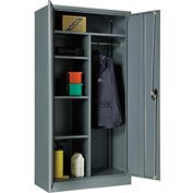 Global™ Combination Cabinet Easy Assembly 36x18x72 Gray