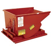 Modern Equipment MECO SDHX150 1-1/2 Cu. Yd. Orange Extra Heavy Duty Hopper