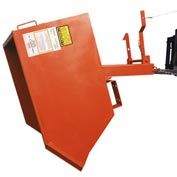 Modern Equipment MECO SDHX025-90 Series 90 1/4 Cu. Yd Orange Extra Heavy Duty Self-Dumping Hopper