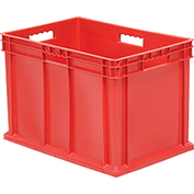 "Akro-Mils Straight Wall Container 37866 Solid Sides & Base 23-3/4""L x 15-3/4""W x 16-1/8""H, Red - Pkg Qty 2"