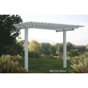 Outdoor Vinyl Newport Extendable Pergola, White