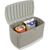 Rubbermaid 5F21 Medium Deck Box With Seat 10 Cubic Feet