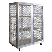 New Age 97621 Aluminum Amplimesh Security Cage Truck 49 x 26-3/4 x 71