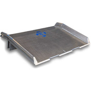 Bluff® Speedy Board® Aluminum Dock Board, Welded Aluminum Curb 10ATD7260 72x60 10,000 Lb.