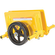 "Vestil Adjustable Plate & Slab Dolly PLDL-ADJ-8MR 8"" Rubber Wheels 1000 Lb. Cap."