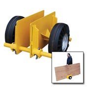 "Vestil Adjustable Plate & Slab Dolly PLDL-ADJ-8GFN 8"" Plastic Wheels 1000 Lb."