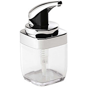 simplehuman® Square Push Soap Pump - Chrome BT1076