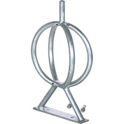 Ground Flange Mount Bike Rack, 2-Bike, Galvanized