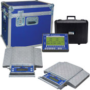 Wheel Load Scale System 30000 x 5lb W/ 6 Double-Wide 5000lb. Pads, Wireless Handheld Indicator