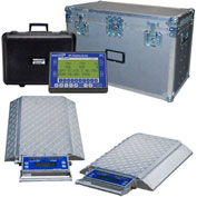 Wheel Load Scale System 60000 x 5lb W/ 6 Double-Wide 10000lb. Pads, Wireless Handheld Indicator