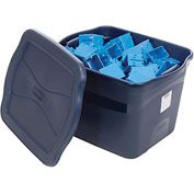 United Solutions 3R28 Latching Clever Store Tote 18 Gallon Dark Blue - Pkg Qty 12