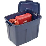 Rubbermaid 2215 Roughneck Tote 18 Gallon Dark Blue - Pkg Qty 12