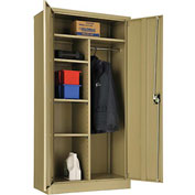 "Global™ Combination Cabinet Assembled 36""W x 18""D x 72""H Tan"