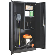 Global™ Janitorial Cabinet Assembled 36x18x72 Black
