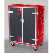 Myton RTC-5829H6 46 Cu. Ft. Red Plastic Security Transfer Truck 950 Lb. Cap.