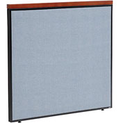 "Interion™ Deluxe Office Cubicle Partition Panel, 48-1/4""W x 43-1/2""H, Blue"