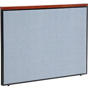 "Deluxe Office Partition Panel, 60-1/4""W x 43-1/2""H, Blue"