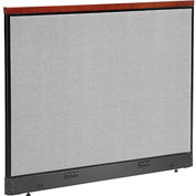 "Deluxe Electric Office Partition Panel, 60-1/4""W x 47-1/2""H, Gray"