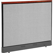 "Interion™ Deluxe Non-Electric Office Cubicle Panel with Raceway, 60-1/4""W x 47-1/2""H, Gray"