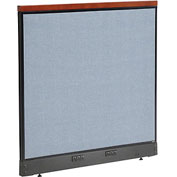 "Interion™ Deluxe Electric Office Cubicle Partition Panel, 48-1/4""W x 47-1/2""H, Blue"