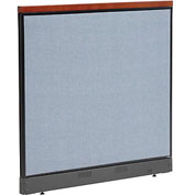 "Interion™ Deluxe Non-Electric Office Cubicle Panel with Raceway, 48-1/4""W x 47-1/2""H, Blue"