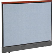 "Deluxe Non-Electric Office Partition Panel with Raceway, 60-1/4""W x 47-1/2""H, Blue"
