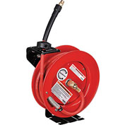 "Global™ 3/8""x 25' Hose Reel Retractable Steel Construction Industrial Grade w/ 25' Hose 300 PSI"