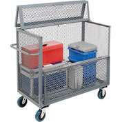 Jamco Steel Mesh Drop-Gate Security Box Truck GH248 48 x 24 3600 Lb. Cap
