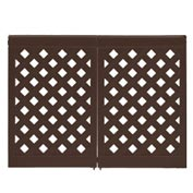 Grosfillex Portable Resin Outdoor Patio Fence, 2-Panel Section - Brown