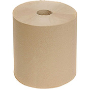 Cascades Decor Roll Paper Towels Natural 800'/Roll, 6 Rolls/Case