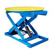 "Bishamon® OPTIMUS Lift2K Lift Table 43"" Dia. Turntable 2000 Lb. Cap. Hand Control L2K-TT-H"