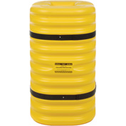 "Eagle Column Protector, 9"" Round Opening, 42"" High, Yellow with Black Straps, 1709"
