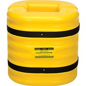 "Eagle Column Protector, 10"" Column Opening, 24"" High, Yellow, 1724-10"