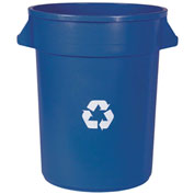 Impact® Gator® Container - 32 Gallon, Blue w/Recycle Logo, 7732-11R - Pkg Qty 6