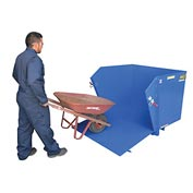 Vestil Self-Dumping Hopper HDROP-50-LD Drop-Down Front Ramp 1/2 Cu Yd & 2000 Lb